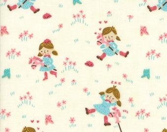 Howdy Porcelain A Gal's Best Friend Yardage SKU# 20551-11 by Stacy Iest Hsu for Moda Fabrics