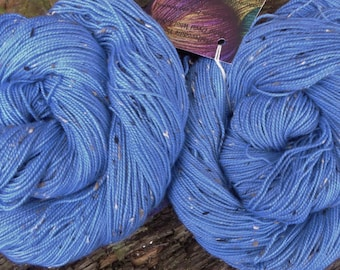 MERINO DONEGAL Nep wool, 100 gms, 200 gms available, Hand Dyed, Mollycoddle Yarns, 4 ply, fingering, sock, 400 mts
