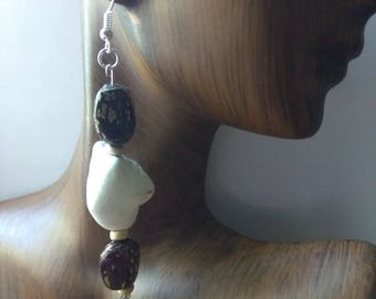 CLARITY l - Long Bead Drop Earrings, Affirmation Jewelry, Cause Jewelry, Benefits Homeless Mothers of Atlanta