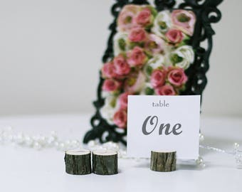 10 Card holders Table number Table number stand Rustic wedding table decor Wedding table Name card holders Wooden holder