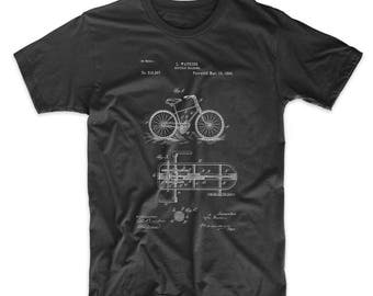 Bicycle Gearing 1894 Patent T Shirt, Hipster T-shirt, Cycling Gift, Bicycle Clothing, Bicycle Shirt, PP51