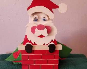 Napkin Holder Holiday Christmas Santa