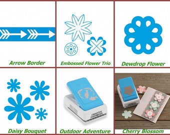 Creative Memories Border maker system and punches, creative memories border punch set fence, trees heart, medallion, lace flower music notes