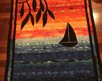 Sunset on the bay quilt