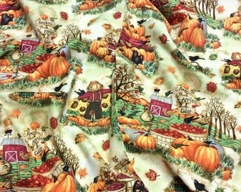 Time to Harvest Autumn Allover 'Discounted' 22831 SPX Patchwork Quilting Dressmaking Fabric