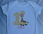 Baby girl 1st birthday Giraffe onesie,Giraffe birthday party,1st birthday girl onesie,personalized