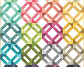 "Ombre Confetti Metallic Quilt Kit - measures approx. 46"" x 57"""
