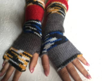 2017 new women gift gloves Fingerless gloves Mittens Long Arm Warmers Boho Glove Women Fingerless Wrist long arm warmers Ready to ship!