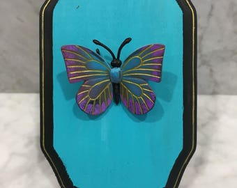 Blue Skies -faux taxidermy butterfly