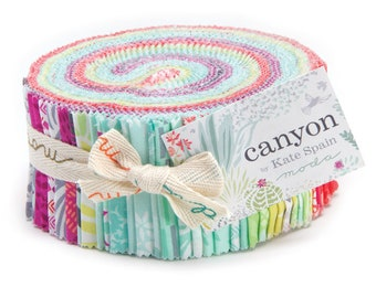 "CANYON Jelly Roll - (42) 2 1/2"" x 44"" Strips -  Cotton Quilt Fabric - by Kate Spain for Moda Fabrics 27220-JR (W3914)"