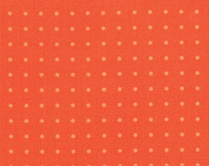 COMMA - Periods in Tangerine Orange - Tonal Dots Dot Novelty Cotton Quilt Fabric - by Zen Chic for Moda Fabrics - 1515-22 (W4123)
