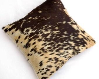 Natural Cowhide Luxurious Hair On Cushion/ Pillow Cover (15''x 15'') A121