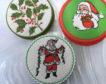 Vintage Christmas Holiday Coasters