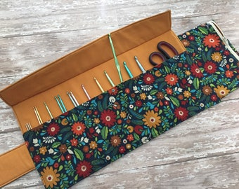Crochet Hook Case Clutch Organizer - made to order