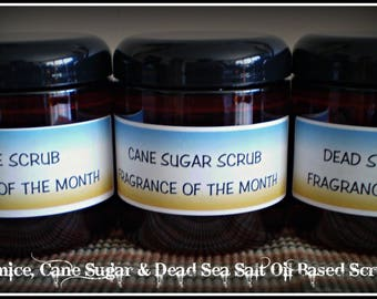 Oil Based Scrubs Enhanced With Jojoba Beads - Sugar, Dead Sea Salt & Pumice 8oz - Fragrance List R - Z