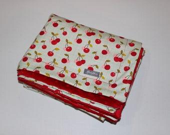 MInky Blanket-Sweet Cherries