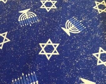 Hanukkah cotton fabric - 1-1/8 yards