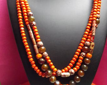 HALLOWEEN 3 strands 45cm, multicolored beads necklace