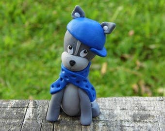 Cartoon dog, Memorial dog gift, Gift for dog lover, Personalized dog gift for owner, Clay dog, Figurine dog, Cartoon figurine, Love dog art