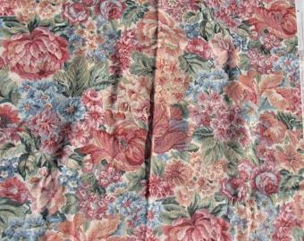 Vintage Heavy cotton Fabric - Floral