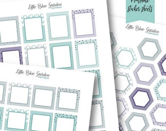 Overlay Pattern Medley: Asheville Printable Planner Stickers -Instant Download