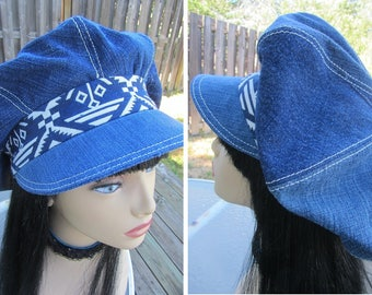 Blue Jean Boho Hat