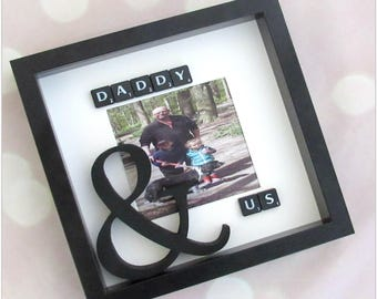 Daddy & me or Daddy and us photo frame, great for father's day gifts, daddy gift, dad birthday gift