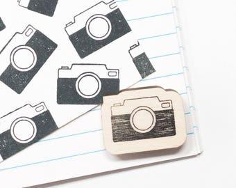 Rubber stamp camera, stamp photography, mini stamp, stamp photo camera, gift for photographers, scrapbook stamp, studio maas, stationery