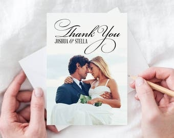 Wedding Thank You Cards - Folded Wedding Cards - Free Shipping - Custom Thank You Card - Wedding Thank You Printed Cards