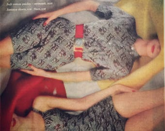 Beautiful Jantzen ad from 1960, just wear a smile and a Jantzen.