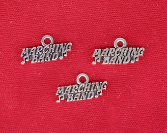 "BULK! 30pc ""Marching band"" charms in silver style (BC1324B)"