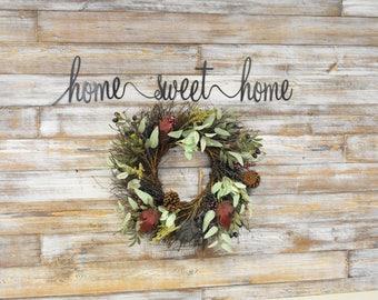 Metal Sign, home Sweet Home,