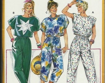 25% OFF Burda 6330     Misses Baggy Pants and Capri's, Cropped Top    Uncut   Size 8-18