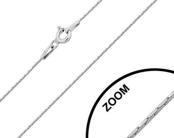 Clasp 925 Silver chain, spring, mesh Cardano square, 42 cm