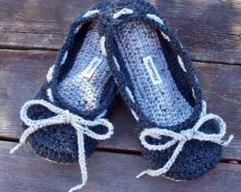 Crochet Slippers, adjustable non-slip