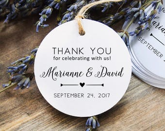 Favor Tags, Wedding Bag Tags, Thank You Favor Tags, Custom Wedding Gift Tags, 24 Thank You Tags | Wedding | Bridal Shower