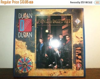 Save 30% Today 1983 Vintage Duran Duran LP Record Seven and the Ragged Tiger Near Mint Condition 9569