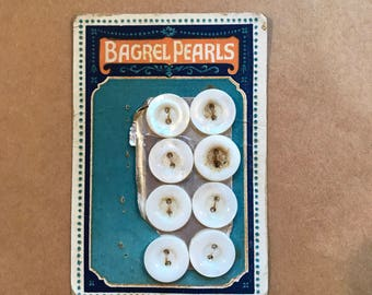 Vintage Mother-of-pearl Buttons on Original Card