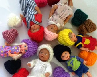 Beanies for Little Dolls, Berenguer,Tommy,Kelly, Baby Born or similar size dolls.  12 Colours Available.