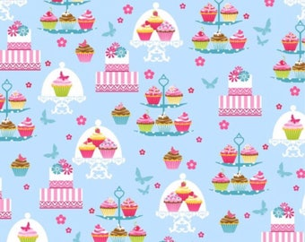 Sweet Tooth Cupcakes and Cakes -  Cotton Fabric [[by the half yard]]