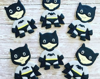 12 batman superhero sugar cookies