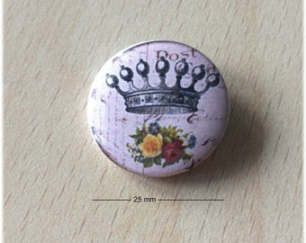 "badge 25 mm ""Crown 05"""