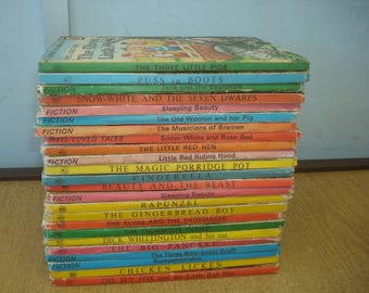 Set of 23 Ladybird 606D books 'Well Loved Tales'.  Mostly VG condition