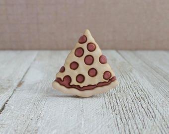 Pizza Slice - Pepperoni Pizza - Waiter - Waitress - Pizzaria - Restaurant - Lapel Pin