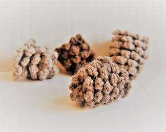 Pining for You | Set of 6 crocheted pine cones
