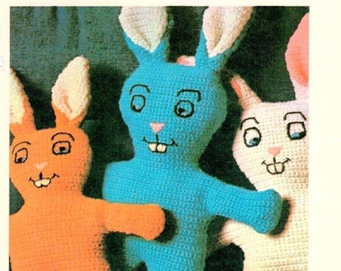 Retrocon Sale - Crochet Bunny amigurumi  single crochet pattern download EASY and CUTE