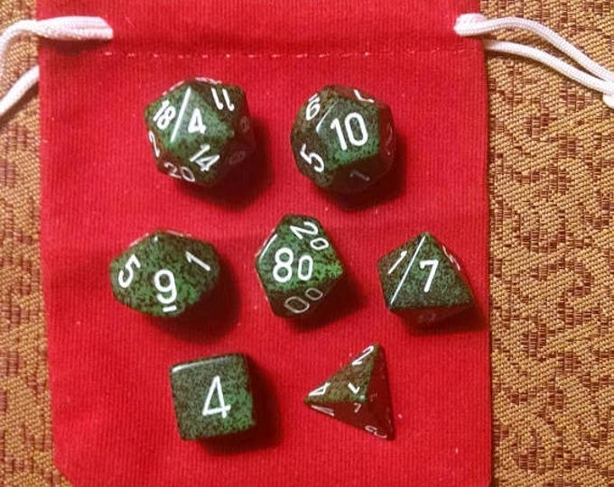 Retrocon Sale - Forest Grove - 7 Die Polyhedral Set with Pouch