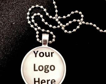 Custom Logo Necklace/ quantity of 10 or more