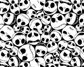 Disney Fabric Nightmare Before Christmas Fabric Jack Faces From Springs Creative 100% Cotton