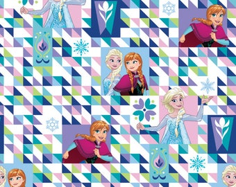 Disney Fabric Frozen Fabric Elsa and Anna Two Sisters One Heart From Springs Creative 100% Cotton